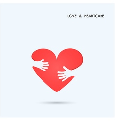 Love heart care logo vector