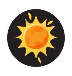Sun in space icon cartoon style vector