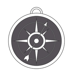 Simple compass icon vector