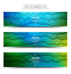 Abstract technology web banners vector
