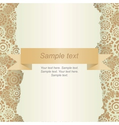 Abstract template for card vector image vector image