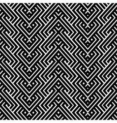 An elegant black and white pattern vector image