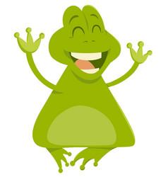 Cartoon frog animal character vector