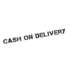 Cash on delivery rubber stamp vector