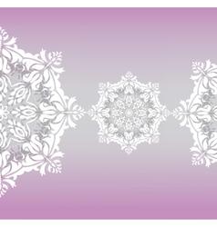 Classic floral lace ornament vector