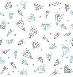 Cute seamless pattern with diamonds vector