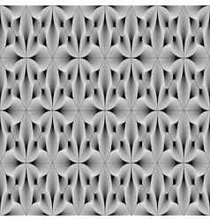 Design seamless monochrome metallic flower pattern vector