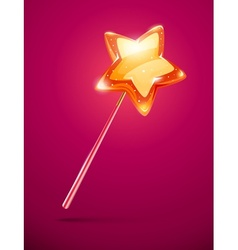 fairytale magic wand with vector image