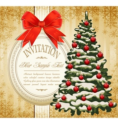 festive invitation vector image