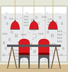 Flat Design Chairs And Table vector image vector image