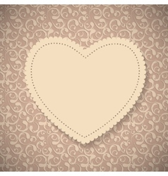 Frame in Vintage Background vector image