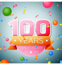 Hundred years anniversary celebration background vector