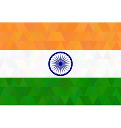 Indian Flag in geometric style vector image vector image