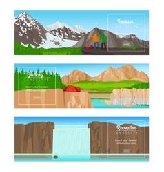 Journey or camping banner set vector image