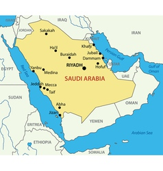 Kingdom of saudi arabia - map vector