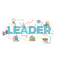 leader word in business leadership concept vector image