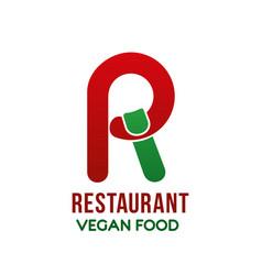 logo for vegan restaurant vector image