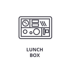 Lunch box line icon outline sign linear symbol vector