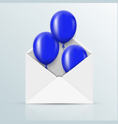 Modern blue balloons background for happy vector