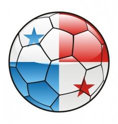 panama flag on soccer ball vector image vector image