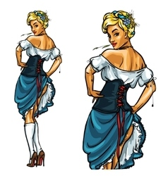 Pretty Bavarian girl Oktoberfest Pin Up vector image vector image