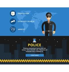 Profession concept policeman flat design concepts vector