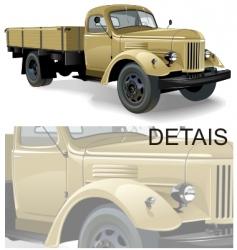 retro lorry vector image vector image