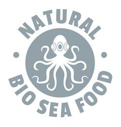 sea food logo simple gray style vector image