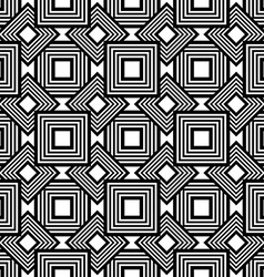 Seamless geometric pattern black and white simple vector image vector image