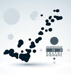 Splattered monochrome web design element art ink vector