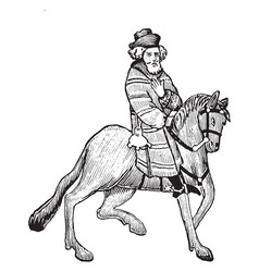 The franklin from chaucers canterbury tales vector