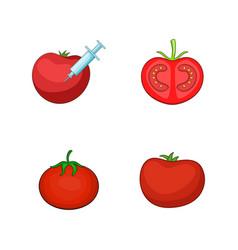 tomato icon set cartoon style vector image vector image