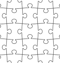 transparent seamless puzzle vector image