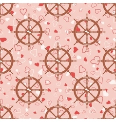 Wedding seamless pattern with steering wheel with vector image
