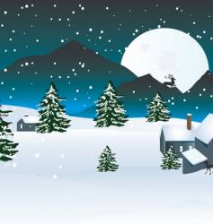 winter moon vector image