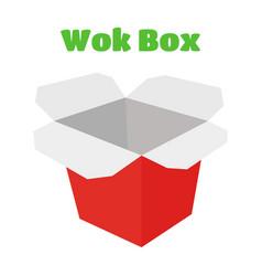 Wok box asian food japan noodles vector