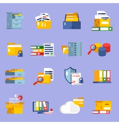 Archive icons set vector