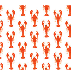 lobster pattern vector image
