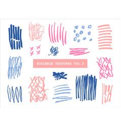 Scribble textures collection vector