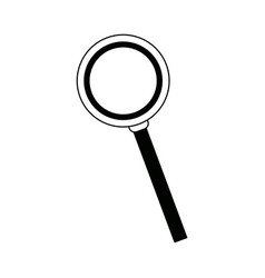 Magnifying glass loupe and handle search tool vector