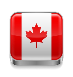Metal icon of canada vector