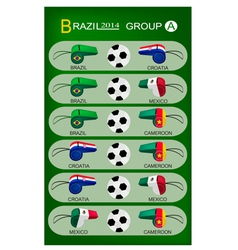 Soccer tournament of brazil 2014 group a vector