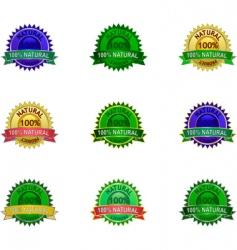 natural product labels set vector image