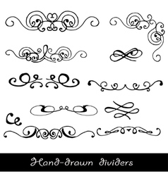 Hand drawn line border vector