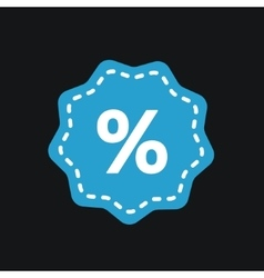 Percent tag icon vector