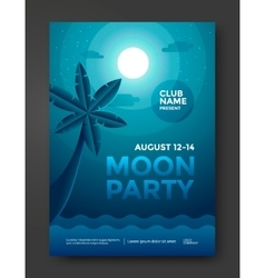 Moon party flyer vector