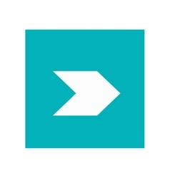 Arrow pointing right inside square icon vector