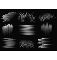 Abstract speed line patterns vector image