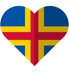 Aland flat heart flag vector