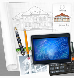 Architecture and technological elements vector